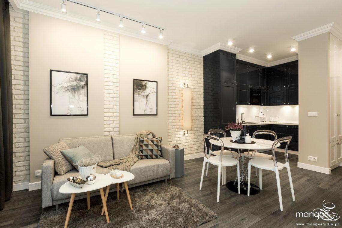 Mango Studio projektowanie wnętrz pod klucz apartament na wynajem w stylu klasycznym (4)