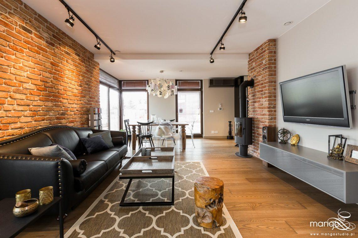 Mango Studio Projektowanie wnętrz pod klucz dom loftowy kolonialny nowoczesny salon (4)