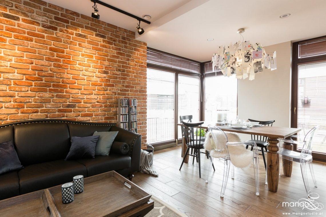 Mango Studio Projektowanie wnętrz pod klucz dom loftowy kolonialny nowoczesny salon (5)