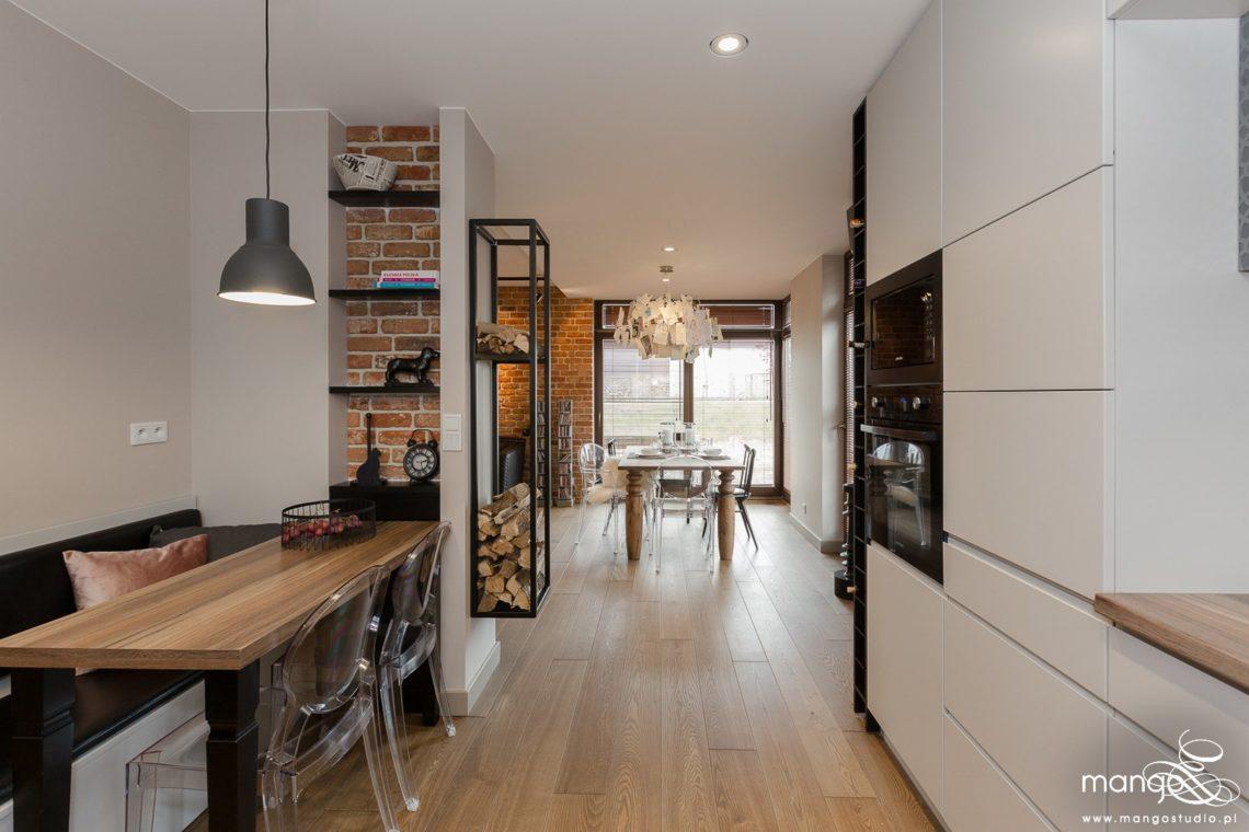 Mango Studio Projektowanie wnętrz pod klucz dom loftowy kolonialny nowoczesny kuchnia jadalnia(24)
