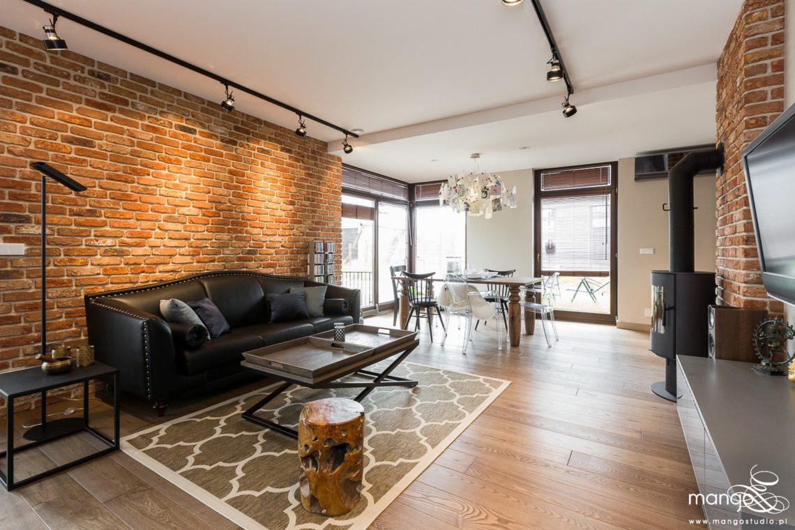 Mango Studio Projektowanie wnętrz pod klucz dom loftowy kolonialny nowoczesny salon (3)