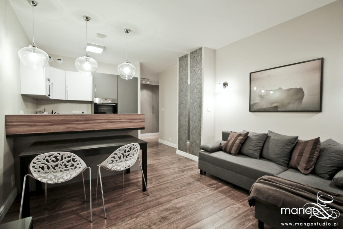 Mango Studio projektowanie wnętrz pod klucz - apartament ekonomiczny masarska kraków (1)